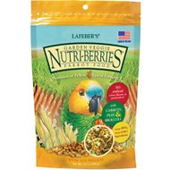 Lafeber Garden Veggie Nutri-Berries Parrot Bird Food, 10-oz bag
