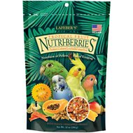 Lafeber Tropical Fruit Nutri-Berries Cockatiel Bird Food, 10-oz bag