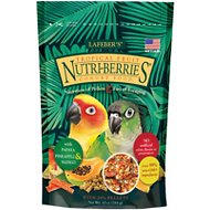 Lafeber Tropical Fruit Nutri-Berries Conure Bird Food, 10-oz bag