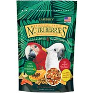 Lafeber Tropical Fruit Nutri-Berries Macaw & Cockatoo Bird Food, 10-oz bag