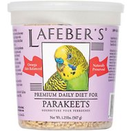 Lafeber Premium Daily Diet Parakeet Bird Food, 1.25-lb tub