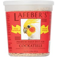 Lafeber Premium Daily Diet Cockatiel Bird Food, 1.25-lb tub