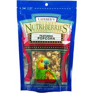 Lafeber Popcorn Nutri-Berries Parrot Bird Treat, 1-lb bag