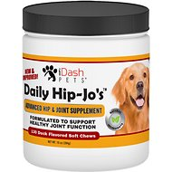 iDash Pets Daily Hip-Jo's Advanced Hip & Joint Dog Supplement, 130 Soft Chews