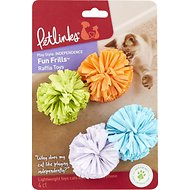 Petlinks Fun Frills Raffia Ball Cat Toy, 4 count