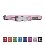 Red Dingo Reflective Dog Collar, Small Pink,