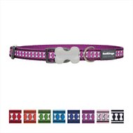 Red Dingo Reflective Dog Collar, Small Purple,