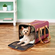 Sherpa Original Deluxe Herringbone Stitch Large Pet Carrier, Wine