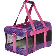 Sherpa Original Deluxe Herringbone Stitch Medium Pet Carrier, Purple