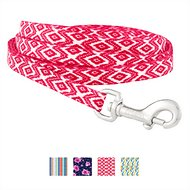 Frisco Patterned Dog Leash, Red Tribal, 6-ft, 3/8-in
