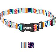 Frisco Patterned Polyester Dog Collar, Geo Graphic Print, Large: 18 to 26-in neck, 1-in wide