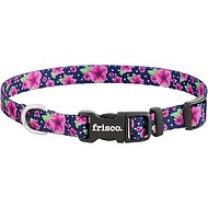 Frisco Patterned Dog Collar, Midnight Floral, Extra Small