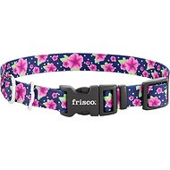Frisco Patterned Dog Collar, Midnight Floral, Medium