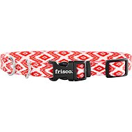 Frisco Patterned Dog Collar, Red Tribal, Small