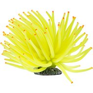 GloFish Aquarium Anemone Ornament, Medium, Yellow