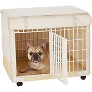 IRIS Covered Plastic Dog and Cat Cage, White, Extra Small