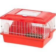 IRIS Wire Hamster Cage, Red