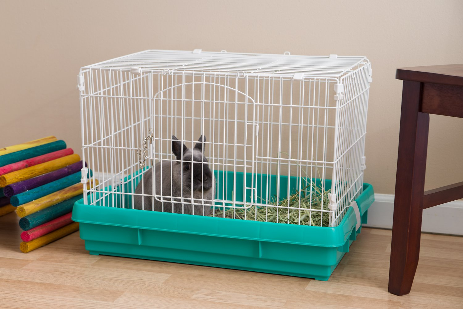 iris wire small animal cage green