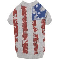 Zack & Zoey American Flag Dog & Cat Tee, Small/Medium