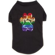 Casual Canine Sequin Puppy Pride UPF 40 Dog Tee, XX-Small