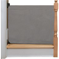 The Stair Barrier Wall to Banister Indoor Fabric Pet Gate, Grey, Wide