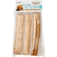 Pure & Simple Pet Peanut Butter Flavored Rawhide Retriever Roll Dog Treat, Large, 3 count