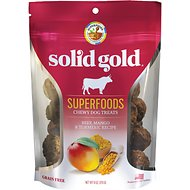 Solid Gold Superfoods Beef, Mango & Turmeric Recipe Grain-Free Chewy Dog Treats, 6-oz bag