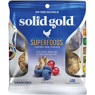 Solid Gold Superfoods Chicken, Berries & Ginger Recipe Grain-Free Chewy Dog Treats, 2-oz bag