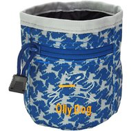 OllyDog Treat Bag Plus, Navy Houndstooth