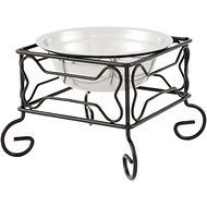YML Wrought Iron Stand with Stainless Steel Dog Bowl, Small
