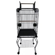 YML Open Top Parrot Cage with Stand, Black, 20-in
