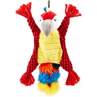 TrustyPup Rope Buddies Parrot Toss and Fetch Dog Toy