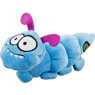 GoDog Bugs Caterpillar Chew Guard Plush Squeaker Dog Toy, Blue, Small