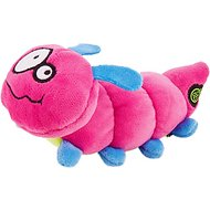 GoDog Bugs Caterpillar Chew Guard Plush Squeaker Dog Toy, Pink, Small