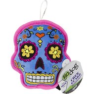 GoDog Sugar Skulls Chew Guard Squeaky Plush Dog Toy