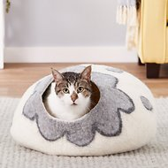 Earthtone Solutions Cozy Pueblo Natural Wool Cat Cave Bed