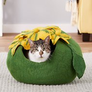 Earthtone Solutions Emerald Haven Natural Wool Cat Cave Bed