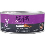 Hound & Gatos Turkey Formula Grain-Free Cat Food, 5.5-oz, case of 24