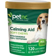 PetNC Natural Care Calming Aid Soft Chews Dog Supplement, 120 count