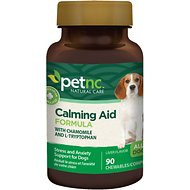 PetNC Natural Care Calming Aid Formula Chewable Tablet Dog Supplement, 90 count