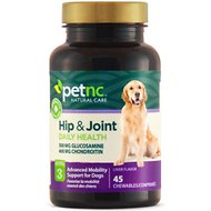 PetNC Natural Care Hip & Joint Daily Health Level 3 Chewable Tablet Dog Supplement, 45 count