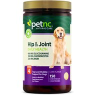 PetNC Natural Care Hip & Joint Daily Health Level 4 Chewable Tablet Dog Supplement, 150 count