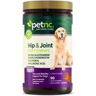 PetNC Natural Care Hip & Joint Mega Max Soft Chews Dog Supplement, 90 count