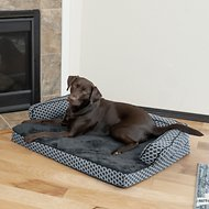 FurHaven Comfy Couch Orthopedic Sofa Dog & Cat Bed, Diamond Gray, Large