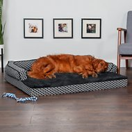 FurHaven Comfy Couch Orthopedic Sofa Dog & Cat Bed, Diamond Gray, Jumbo