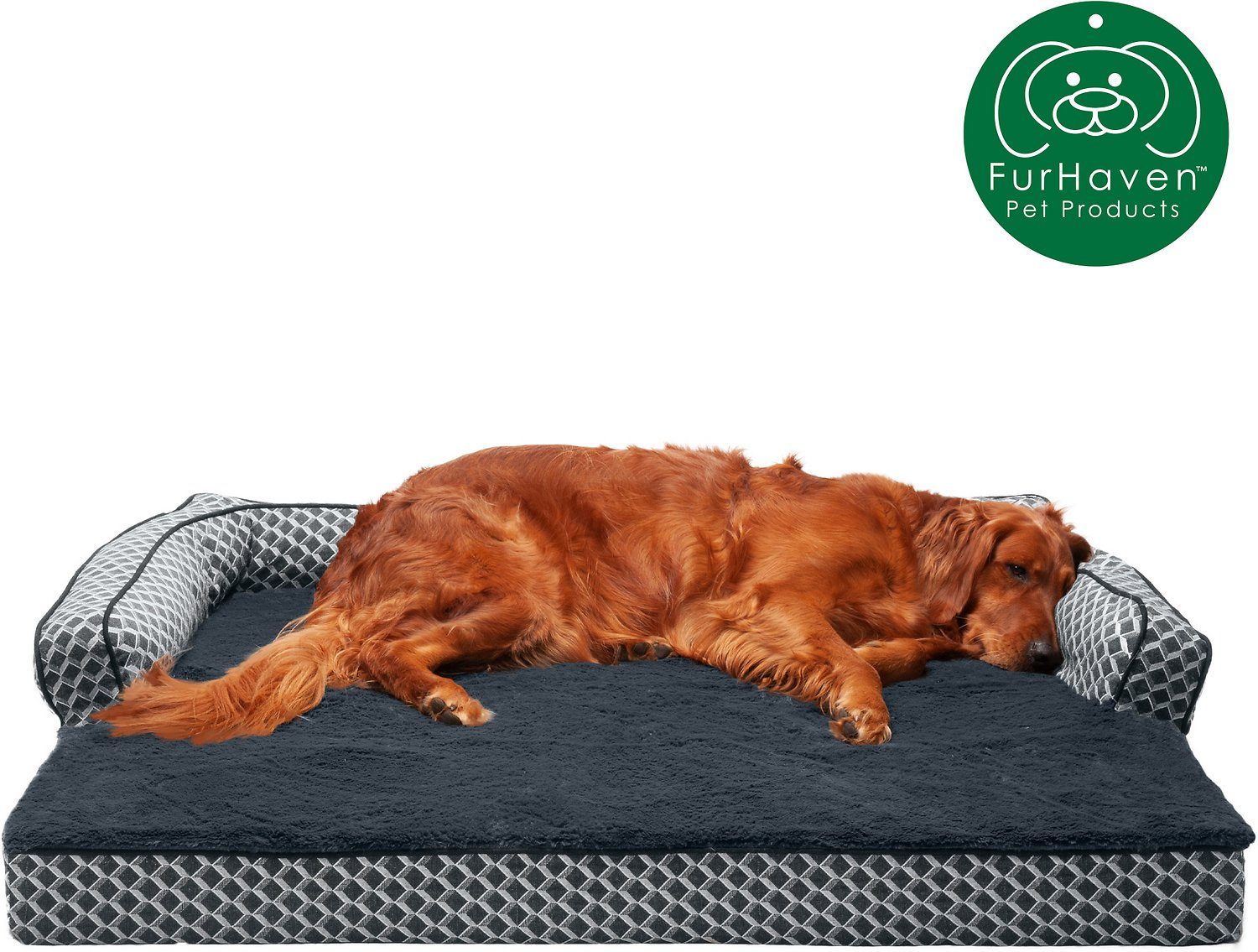 Furhaven Comfy Couch Orthopedic Sofa Dog Amp Cat Bed