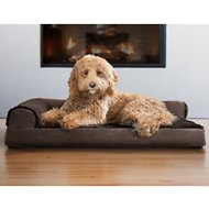FurHaven Plush & Velvet Deluxe Chaise Lounge Orthopedic Dog & Cat Bed, Sable Brown, Large
