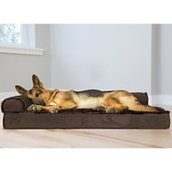 FurHaven Plush & Velvet Deluxe Chaise Lounge Orthopedic Dog & Cat Bed, Sable Brown, Jumbo