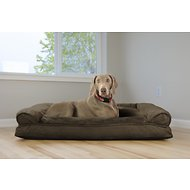 FurHaven Plush & Suede Pillow Sofa Dog & Cat Bed, Jumbo, Espresso