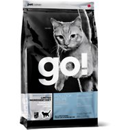 Go! Sensitivity + Shine LID Pollock Recipe Grain-Free Dry Cat Food, 4-lb bag
